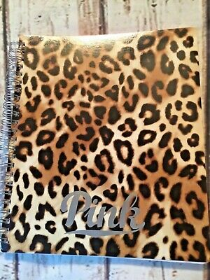 Victoria's Secret PINK 2016/2017 leopard planner organizer w/ stickers New