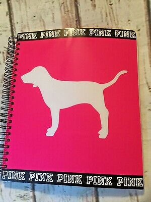 Victoria's Secret PINK 2016/2017 dog planner organizer w/ stickers New