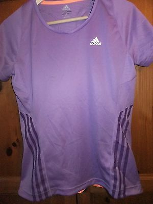 Girls clima  cool adidas top uk age 16 , zip pocket to back