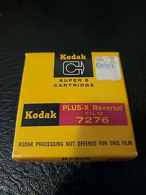Kodak Plus-X Super 8 15m (50ft) Motion Picture B&W Reversal Film Cartridge 7276