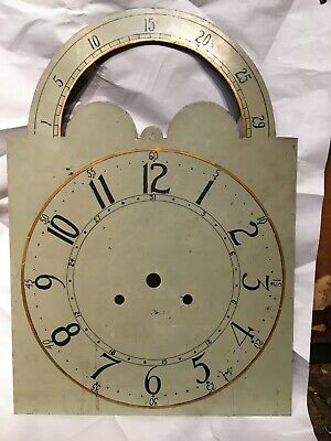 19th century grandfather clock face arched dial