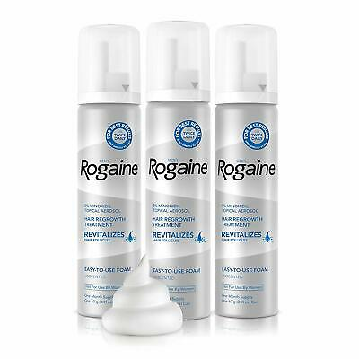 Men's Rogaine 5% Minoxidil Foam Hair Loss/Regrowth 3 Month Supply Exp - 02/2020