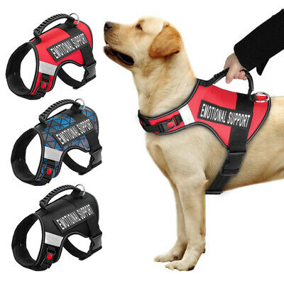 ESA Dog Harness No Pull Emotional Support Therapy Pet Service Vest & 2 Patches