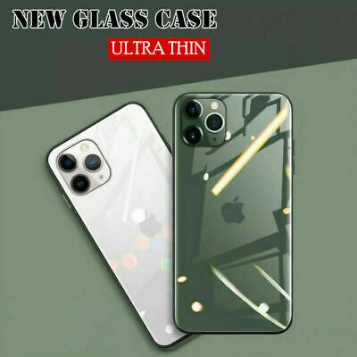 For iPhone 11/11 Pro/11 Pro Max Luxury Case Mirror Plating Tempered Glass Cover