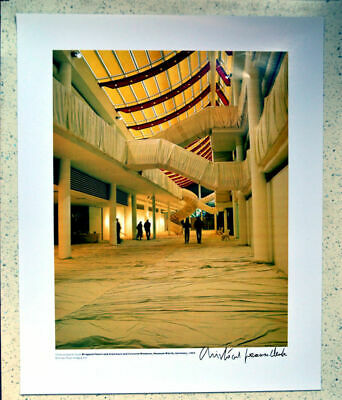 CHRISTO  Wrapped Floors and Stairways 53 x 43 cm hand signed -
