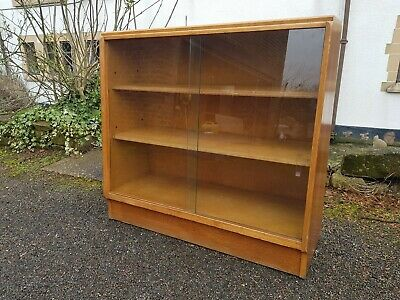 A Vintage Retro Mid Century G Plan Glazed Front Bookcase/Shelving Unit