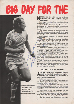 HAND SIGNED Alan Buckley Birmingham City - Walsall Nottingham Forest Grimsby
