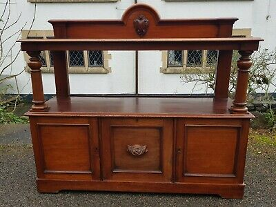An Beautiful and Imposing Antique Victorian Mahogany Two Tier Buffet Sideboard