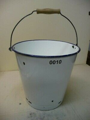 0010. Alter Emaille Email Eimer old email bucket