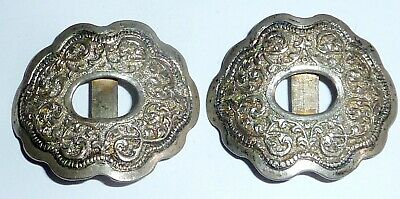 Two Victorian Silver Tone Metal Shoe Buckles