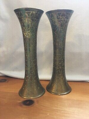 A Pair Of Stunning Brass Vases