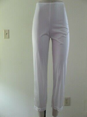 Vintage Vanity Fair White Sheer Nylon Long Leg Pettipants Pants Liner Sz 5 Usa