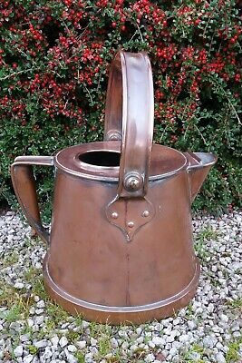 Bulpitt & Son 1910 Copper Barge Kettle Hot Water Can Antique Victorian Metalware