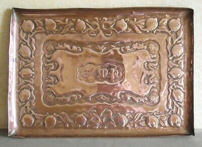 Newlyn School Arts & Crafts Fruit Large Copper Tray Antique Metalware