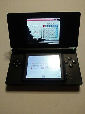 Nintendo DS Lite Black For Parts or repair WORKS but does not read games
