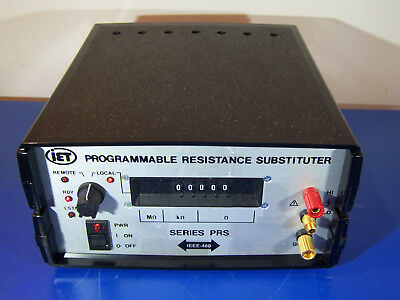 10521 Iet Labs Prs-F-5-1 Ieee-488 Programmable Resistance Substituter Decade Box