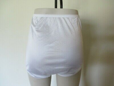 Vintage Jc Penney Adonna White Shiny Sheer Nylon Panties Full Briefs Size 8 Mex