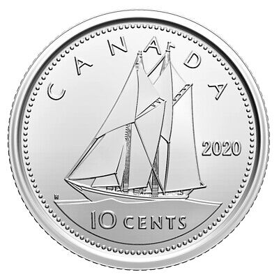 2020 Canada 10 Cents Brilliant Uncirculated First Strike Dime Coin