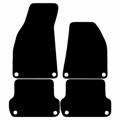 Audi A4 B7 2002 - 2008 Tailored Carpet Car Floor Mats in Black 4pc Set 8 Clips