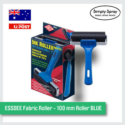 NEW ESSDEE Fabric Roller - 100 mm Roller BLUE. Stamps Fun Project Kit -FREE POST