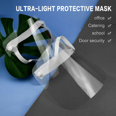 Face Shield Full Mask Clear Flip Up Visor oil fume Protection Safety Work Guard