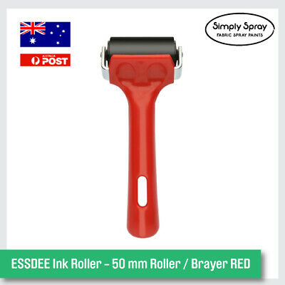 NEW ESSDEE Ink Roller - 50 mm Roller / Brayer RED Fun Project Kit -FREE POST