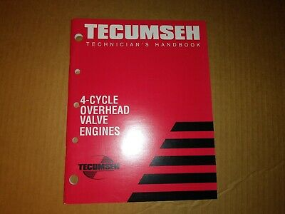 Tecumseh Engines Mechanic's Handbook Overhead Valve Engines  695244A  REV 7/98
