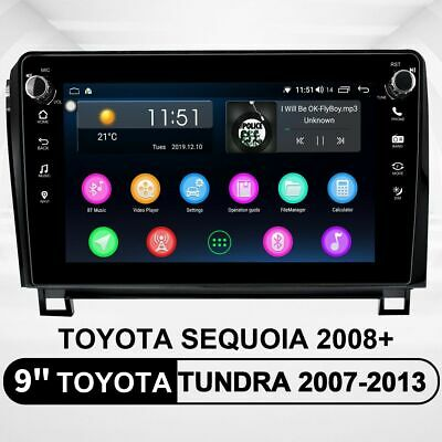 For Toyota Tundra 07-13 9 Inch Android 8.1.0 SWC Car Stereo 1280*720p 4G DSP