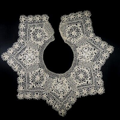 Antique Silk Maltese Bobbin Lace Dress Collar
