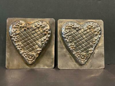 Early 20thc Heart Chocolate Mold