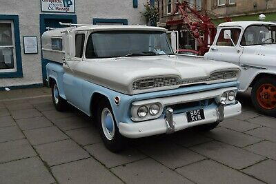 1960 GMC stepside pickup, UK registered and ready to use, removable bed topper