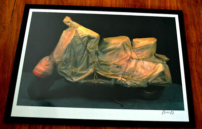 Christo VESPA offset Lithography 84 X 59,4 cm hand signed SELTEN!