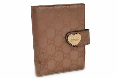 Authentic GUCCI Guccissima Leather Agenda Day Planner Cover Pink 93097