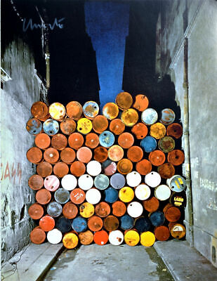 Christo- Oil Barrels Taschen 33 X 25,5 cm  original hand signed