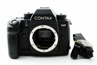 Contax N1 35mm SLR Film Camera Black Body Only w/Strap Excellent Japan #498095