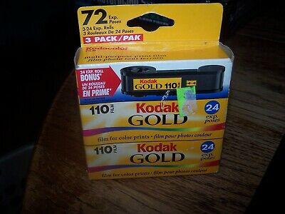Expired Kodak 110 size film . Kodak Gold. 72 exposures Total Expired 2/ 2003 NEW