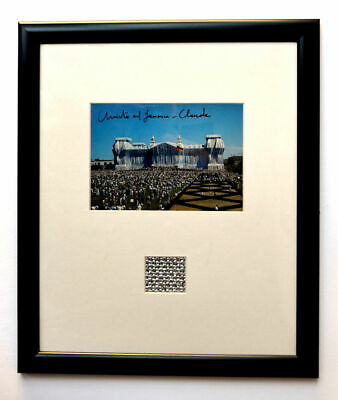 Christo & Jeanne Wrapped Reichstag  hand signed collage
