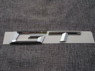 CHROME GT FIT 550GT 535GT REAR TRUNK NAMEPLATE BADGE EMBLEM NUMBERS LETTERS NAME