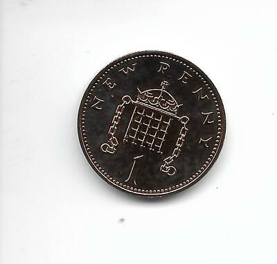 1972  One Pence 1p Royal Mint Proof  coin taken from Royal Mint proof Set