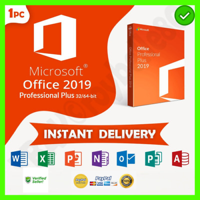 MICROSOFT OFFICE 2019 PRO PLUS 32/64bit  License Key Instant Delivery
