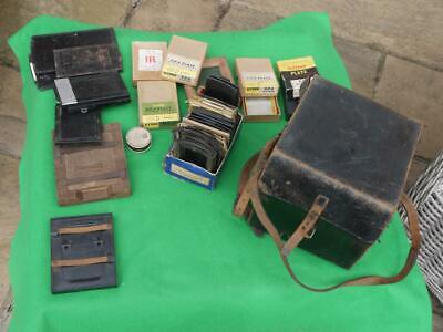 SUPERB RARE Kershaw PAT 1907 Soho Plate Camera With Carl Zeiss Jena Lens + Accs