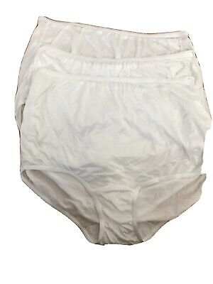 3 DIXIE BELL White Vintage Style Full BRIEFS Granny Sissy PANTIES 10 Gusset USA