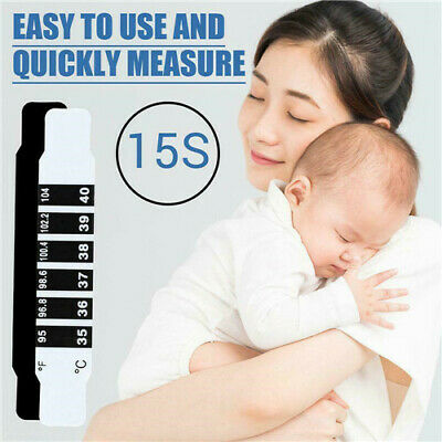 10Pcs Forehead Thermometer Fever Scan Strip, Baby, Child Adult Check Temperature