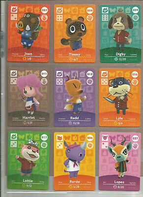Animal Crossing - Amiibo Cards - Pick from the list - Series 1 2 3 4