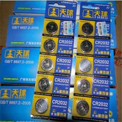 5PCS CR2032 DL2032 LM2032 3V Button Cell Coin Battery for Watch Toys Remote