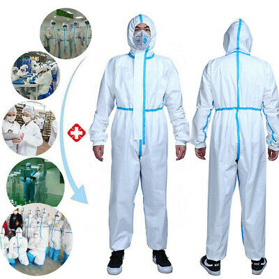 CA Disposable Coveralls Clothing Protective Safety Overalls Suit Full Protection