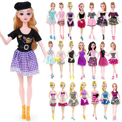 Fashion Different Style Dresses Clothes Set for Barbie Doll Casual Party Decor