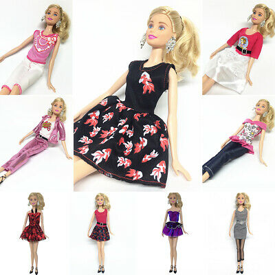 Fashion Doll Clothes Casual Wear Outfit Party Gown For Barbie Doll Kids Toy