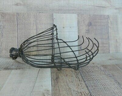 Antique Primitive Wrought Iron Apple Fruit Picker Farm Tool Hand Made