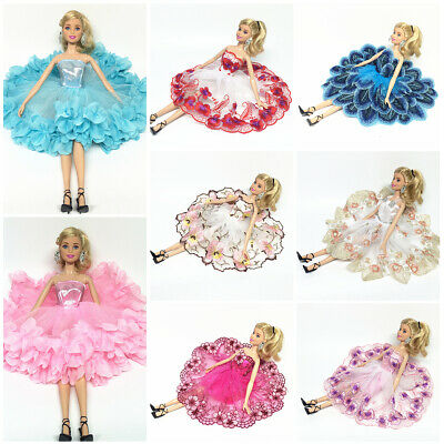 Fashion Gown Dresses Clothes For Barbie Dolls Wedding Party Dress Kids Gift
